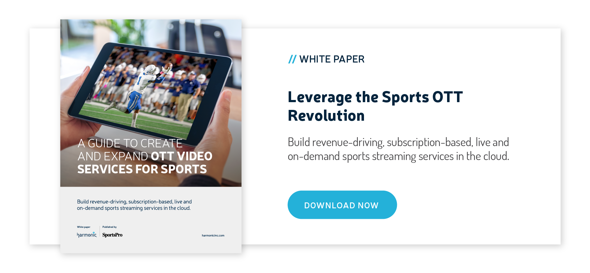 A GUIDE TO CREATE AND EXPAND OTT VIDEO SERVICES FOR SPORTS