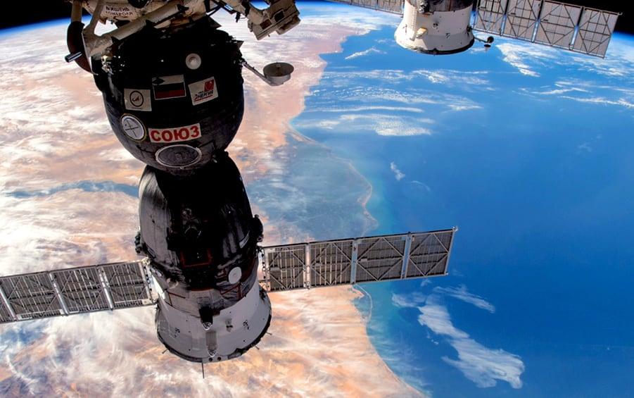 Nasa Satellites above the earth